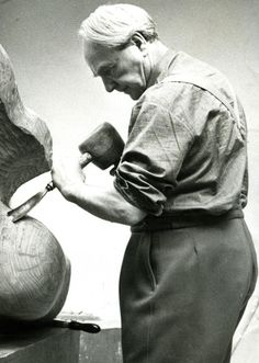 Carving wood is as sensual as it gets in every connotation....    Henry Moore