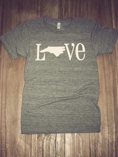 Love this site! I need to get me some of these. Classic State Love Tee- North Carolina | Charlie Southern