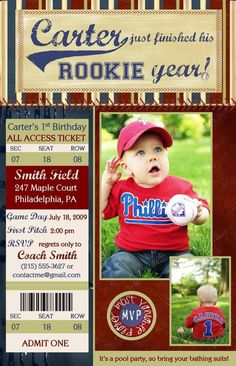 cute invite for a boys first birthday