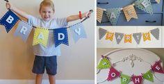 idea, craft, names, buntings, felt banner