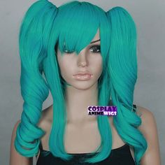 Vocaloid Miku cosplay wig. it feels like real hair. the strands have a very natural color and feel, not like the cosplay wigs with cheap plastic hair thats being sold everywhere else.
