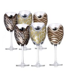 Wildlife Wine Glass Cozy 6-Piece Set