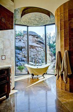 Mediterranean Master Bath by Soloway Designs