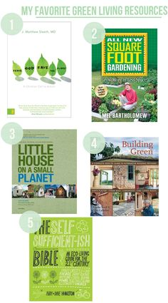 My favorite green living resources