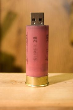 2GB 12 Gauge Pink Shotgun Shell Flash Drive. Where was this when I was in school?