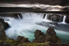 galleries, iceland, photograph, waterfalls, nature, godafoss fall, art, xavier jamonet, country