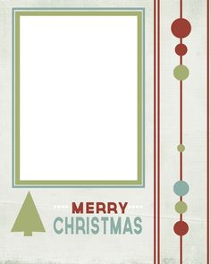 Free Printable!  Christmas Card Display + 5 Printable Christmas Cards