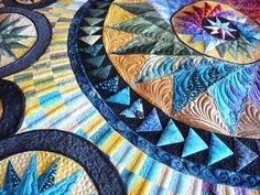 Sewing & Quilt Gallery: Bristol Stars. Beautiful quilting