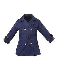 Another great find on #zulily! Navy Trench Coat - Toddler & Girls #zulilyfinds