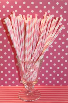 paper straws. they are great for parties    thesugardiva.com