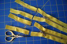 Shortening Metal Zippers from the Top Tutorial