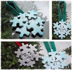 Puzzle Piece Christmas Ornament