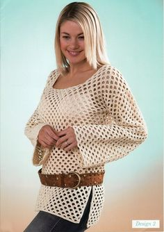 Crochet tunic, swimsuit cover up?