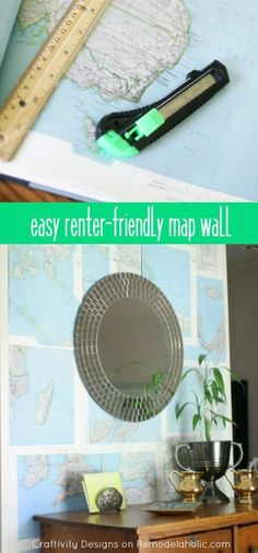 Easy DIY Map Wall --