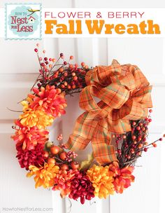 flower fall wreath