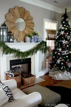 Our Christmas mantel 2013