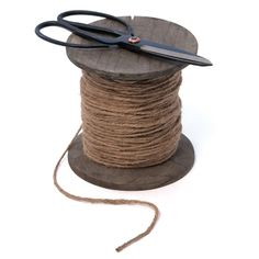 Linen string with scissors
