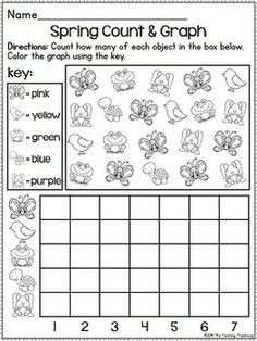 This pack contains Spring themed alphabet practice, rhyming, syllables, patterns, numbers 1-20, counting, adding, subtracting, shapes, and more! 52 ready to use, no prep printables in ink saving black and white. Answer keys included. *Aligned to Kindergarten Common Core Standards* $