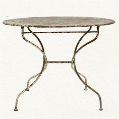 im a sucker for antique painted iron tables