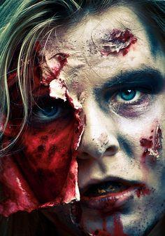 Amazing horror makeup by Stuart Wilson, via 500px