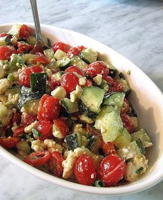 Cucumber-Tomato Salad with Feta