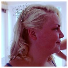 Cat's vintage inspired bridesmaid hairstyle.