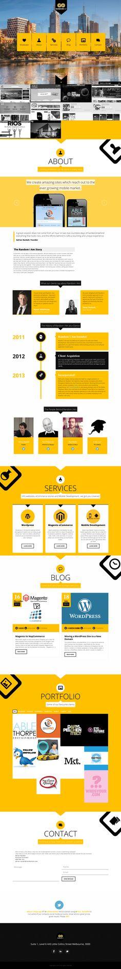 http://randomiam.com/ #webdesign