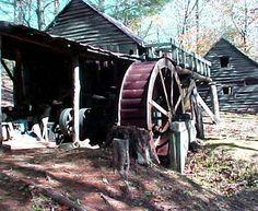 grist mill, su değirmenleri, north carolina