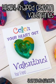 Color Your Heart Out!! Brilliant Valentine's day card from @Beth J Arena Blake