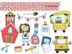 Time for School: Clip Art (FREE)