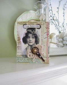 Mother's Day Card  Victorian Girl Card  Pastel by AvantCarde, $6.00