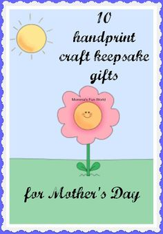 10 handprint crafts for Mother's Day gifts