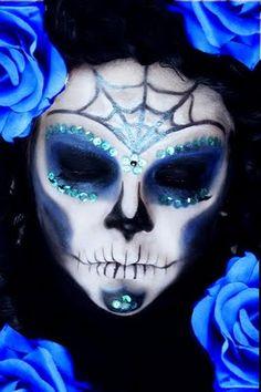 skulls, makeup tutorials, black clothes, makeup geek, blue