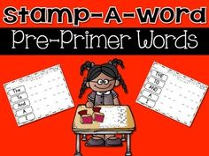 Daily 5 Word Work {Stamp A Word}  Dolch Pre-Primer words