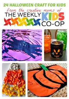 Finds tons of creative ideas for #Halloween crafts for kids plus hundreds more kids activities and kids crafts at The Weekly Kids Co-Op Link Party - http://b-inspiredmama.com/2013/10/halloween-crafts-for-kids/ #kids #learning #preschool