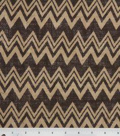 Love this #chevron print on #burlap! #zigzag