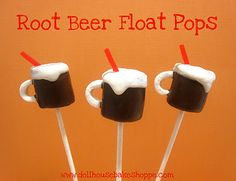fun food, beer floatroot, marshmallow pops, floatroot beer, cake pop, dollhous bake, bake shopp, marshmallows, mugs