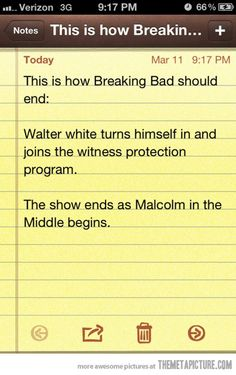 How Breaking Bad should end…
