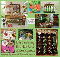 garden birthday, 4th birthday, birthday parties, thing parti, kid birthdays, parti idea