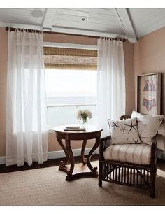 From Smith & Noble. chair, window curtains, natural shades white curtains, window shade, window idea, window blind, photo galleries, live room, curtain photo