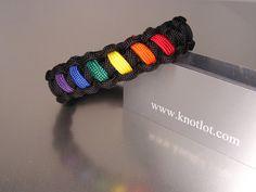 Gay Pride Rainbow Bracelet by AThomasBracelets on Etsy, $9.95