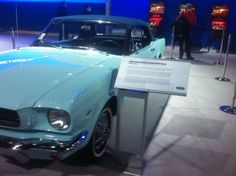 1st Mustang ever built on display at the Chicago Auto Show today.