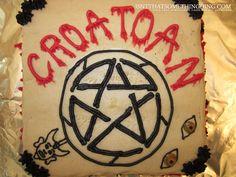 Supernatural Cake - Theme cake for Supernatural TV show