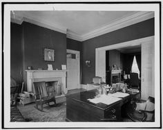 The President's Office, White House, May 1904 - a look into the modest office of President Roosevelt