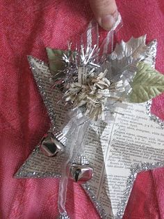 "Make any size of dimensional five-pointed star, simply by folding  a piece of paper and making ONE cut with your scissors!  Tutorial for the ""Betsy Ross"" style star."
