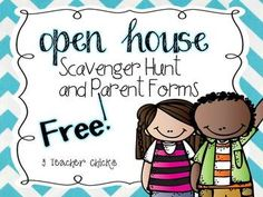Editable Open House Resources for Back to School