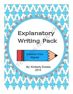 Informative/Explanatory Writing Pack Grade 2 product from Love-Of-Teaching on TeachersNotebook.com