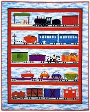 All Aboard Train Applique Childrens Kids Quilt Pattern