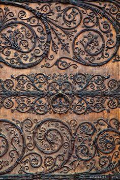 Detail of the doors of Notre Dame, Paris