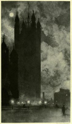 Victoria Tower in Westminster, London, 1898  William Hyde.